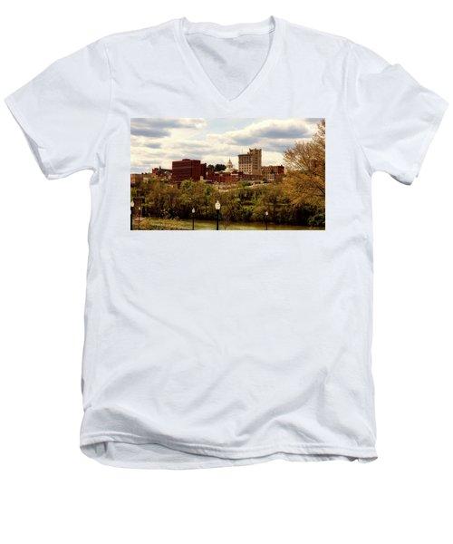 Fairmont West Virginia Men's V-Neck T-Shirt by L O C