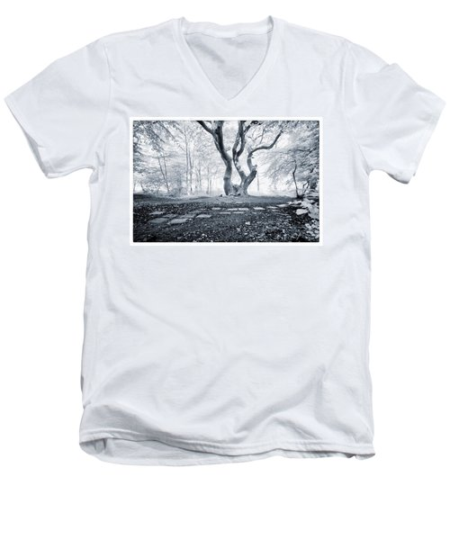 Men's V-Neck T-Shirt featuring the photograph Fairy Tree by Keith Elliott