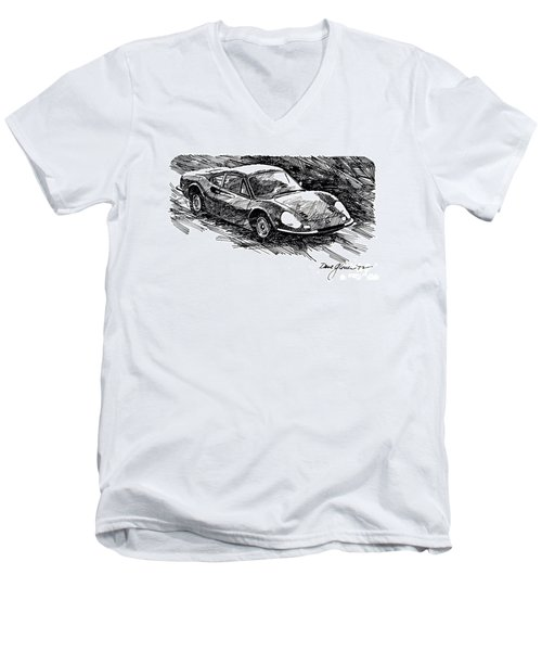 Ferrari Dino Men's V-Neck T-Shirt
