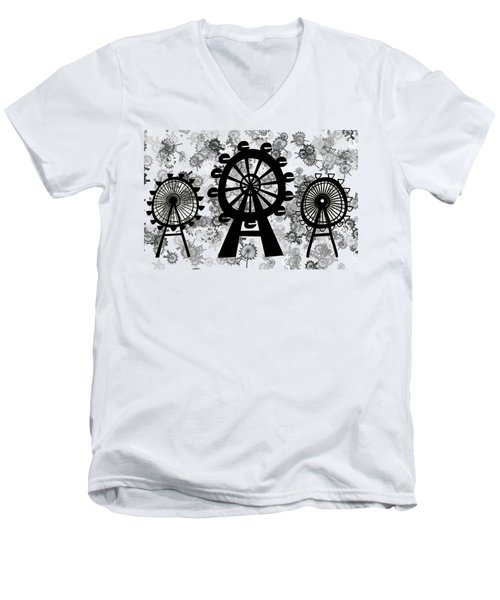 Ferris Wheel - London Eye Men's V-Neck T-Shirt