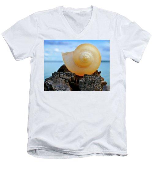Men's V-Neck T-Shirt featuring the photograph Fibonacci by Skip Hunt