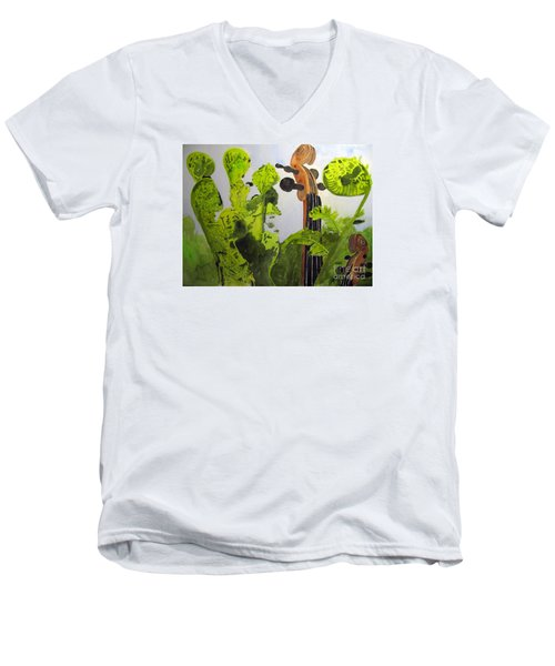 Fiddleheads Men's V-Neck T-Shirt