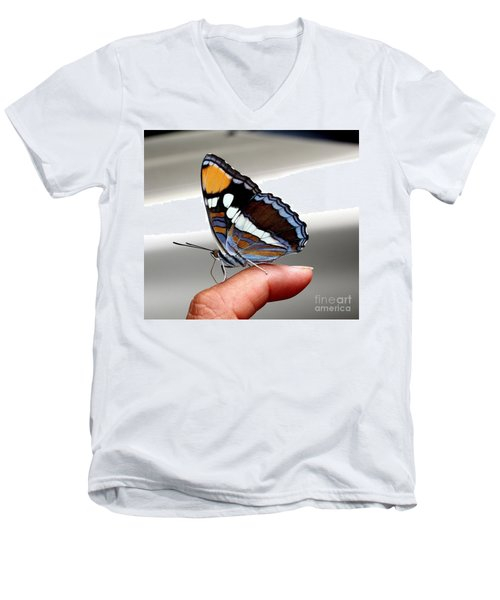 Finger Blessing Men's V-Neck T-Shirt