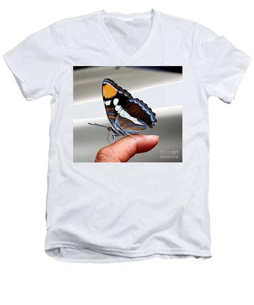 Finger Blessing Men's V-Neck T-Shirt