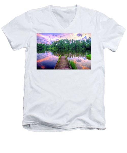 Flint Creek Men's V-Neck T-Shirt by Maddalena McDonald