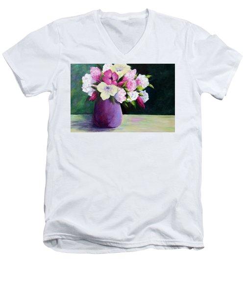 Floral Delight Men's V-Neck T-Shirt