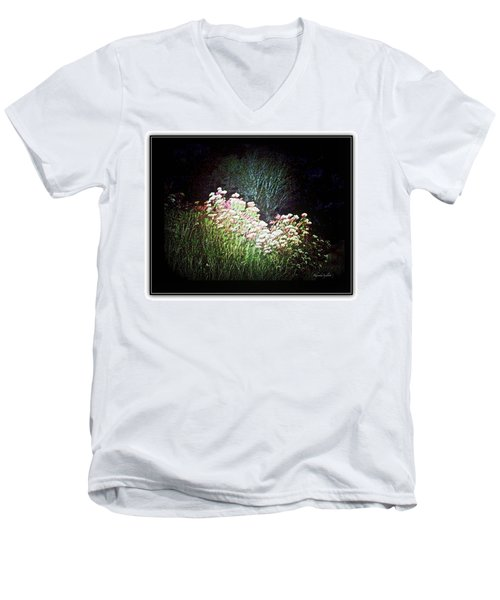 Flowers At Night Men's V-Neck T-Shirt