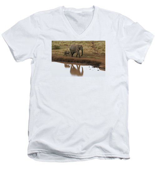 Men's V-Neck T-Shirt featuring the photograph Follow Me by Gary Hall