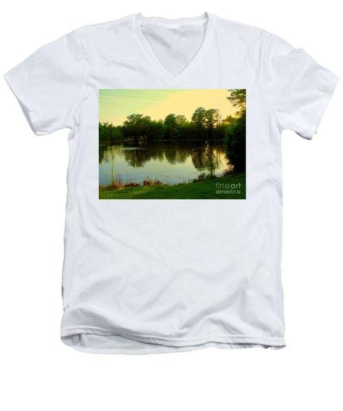 Forest Park Men's V-Neck T-Shirt by Nancy Kane Chapman