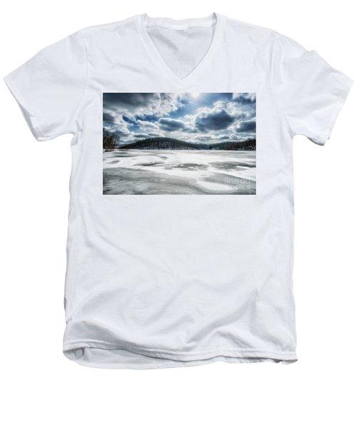 Frozen Lake Men's V-Neck T-Shirt