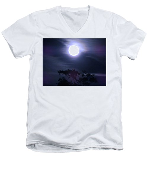 Full Moon Falling Men's V-Neck T-Shirt