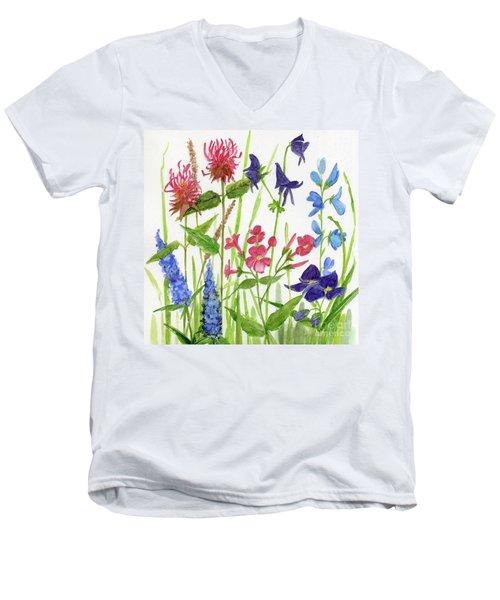 Garden Flowers Men's V-Neck T-Shirt
