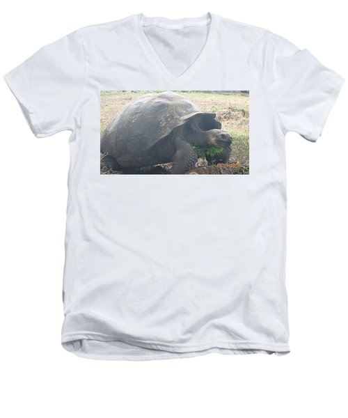 Giant Men's V-Neck T-Shirt by Will Burlingham