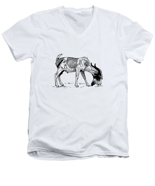 Goat Men's V-Neck T-Shirt by Mordax Furittus