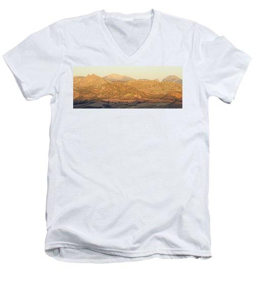 Golden Light In Andalusia Men's V-Neck T-Shirt