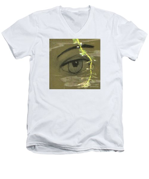 Green Eyes Men's V-Neck T-Shirt