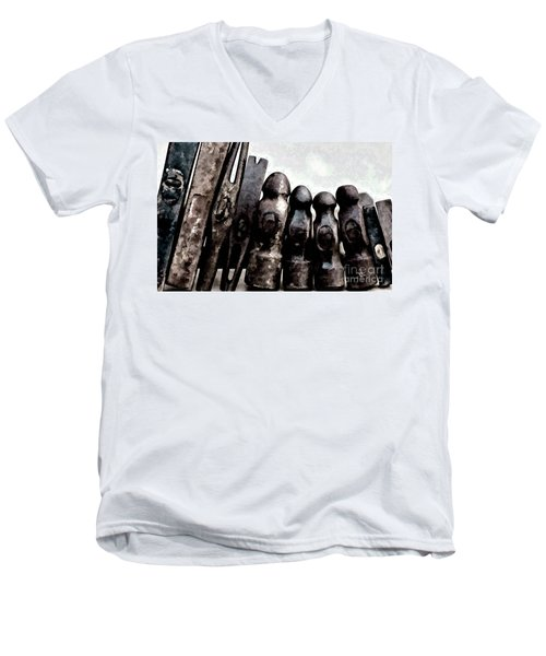 Men's V-Neck T-Shirt featuring the photograph Hammer Heads  by Wilma Birdwell