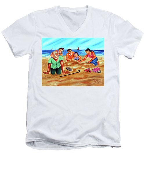 Happy Family Men's V-Neck T-Shirt