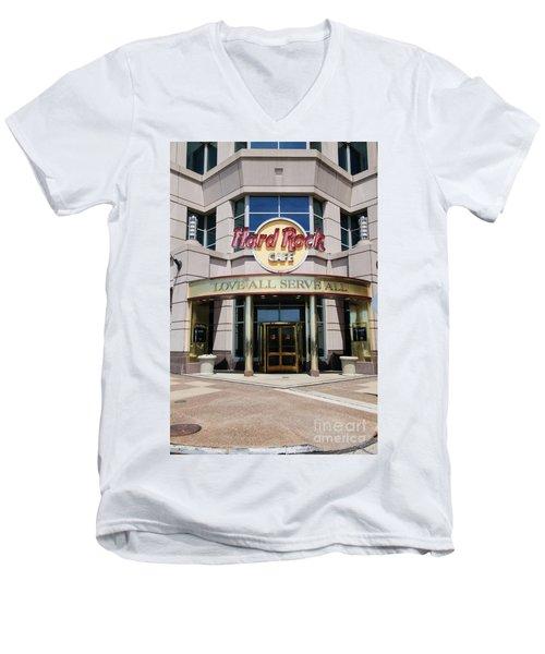 Hard Rock Cafe Men's V-Neck T-Shirt