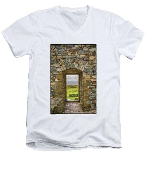 Harlech View Men's V-Neck T-Shirt by R Thomas Berner