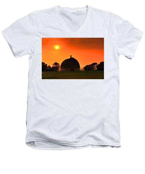 Harvest Sunset  Men's V-Neck T-Shirt