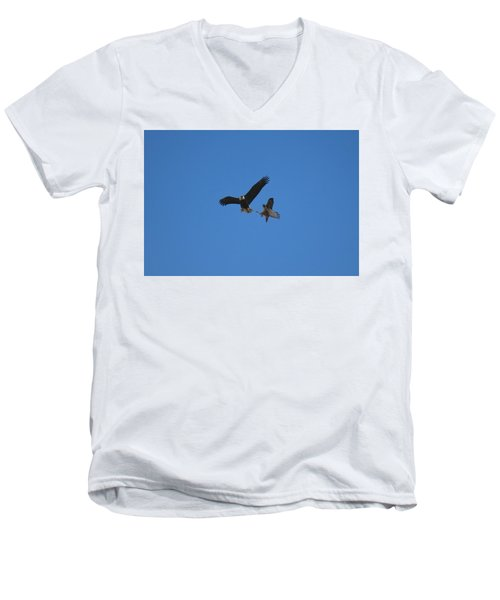 Hawk Vs Eagle Men's V-Neck T-Shirt