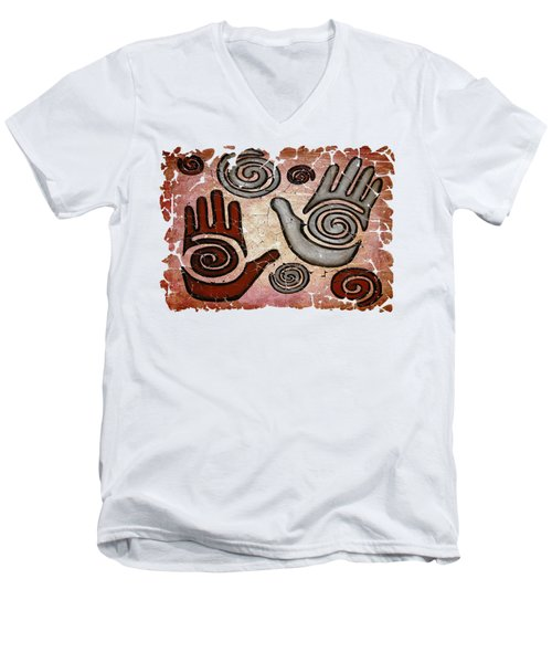 Healing Hands  Men's V-Neck T-Shirt