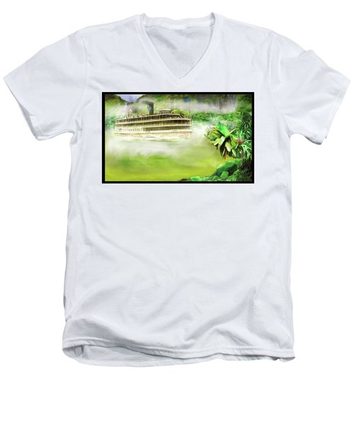 Heart Of Darkness Men's V-Neck T-Shirt by Michael Cleere