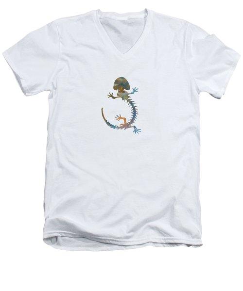 Hellbender Skeleton Men's V-Neck T-Shirt by Mordax Furittus