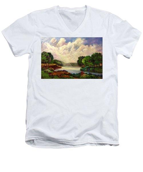His Divine Creation Men's V-Neck T-Shirt by Randy Burns