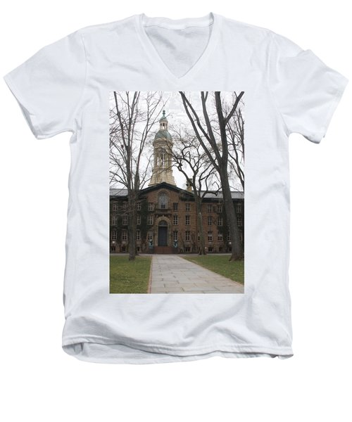 Men's V-Neck T-Shirt featuring the photograph Historic Princeton by Vadim Levin