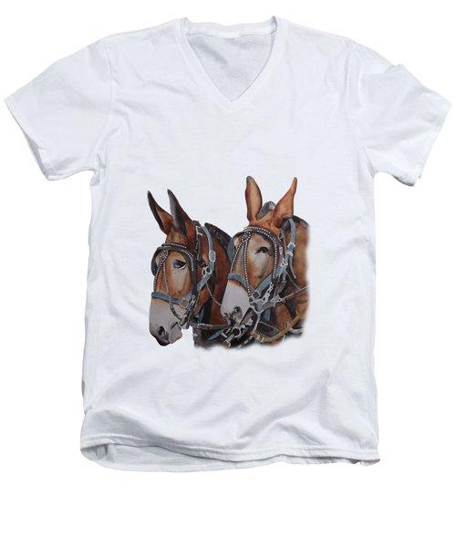 Hitched Men's V-Neck T-Shirt
