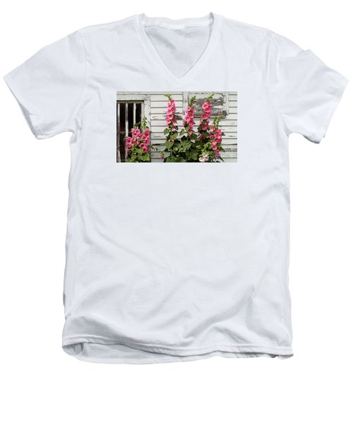 Hollyhocks Men's V-Neck T-Shirt