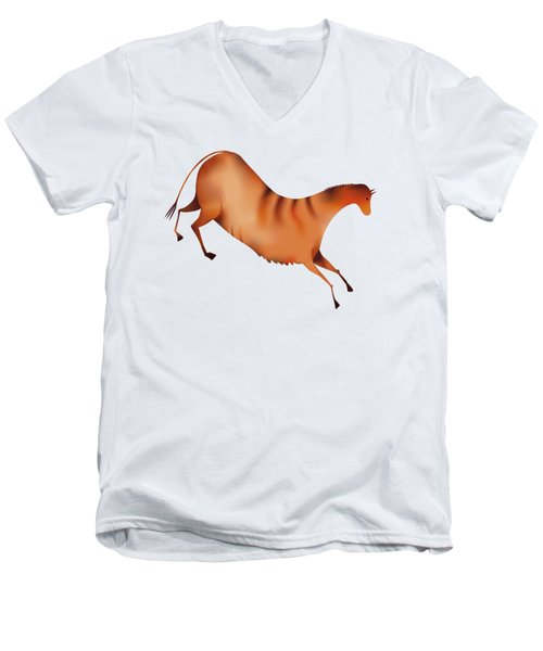 Horse A La Altamira Men's V-Neck T-Shirt