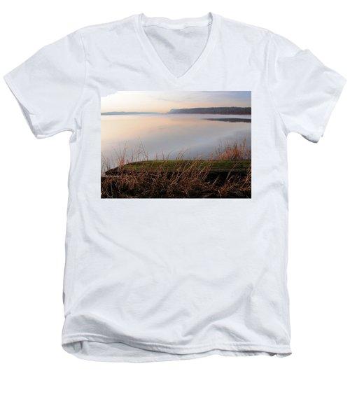 Hudson River Vista Men's V-Neck T-Shirt