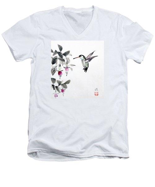 Humming Bird Men's V-Neck T-Shirt