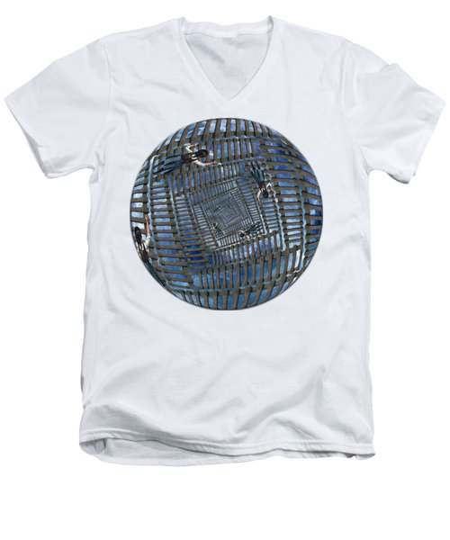 Infinity Ladders Men's V-Neck T-Shirt by John Haldane