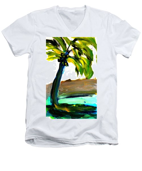 Island Time Men's V-Neck T-Shirt by Fred Wilson