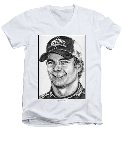 Jeff Gordon In 2010 Men's V-Neck T-Shirt