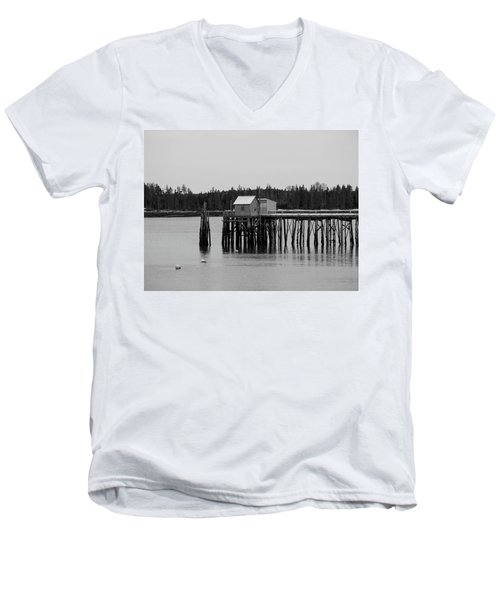 Men's V-Neck T-Shirt featuring the photograph Jonesport, Maine by Trace Kittrell