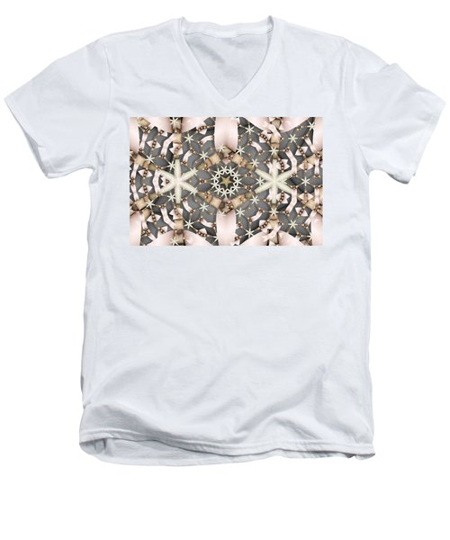Kaleidoscope 97 Men's V-Neck T-Shirt by Ron Bissett