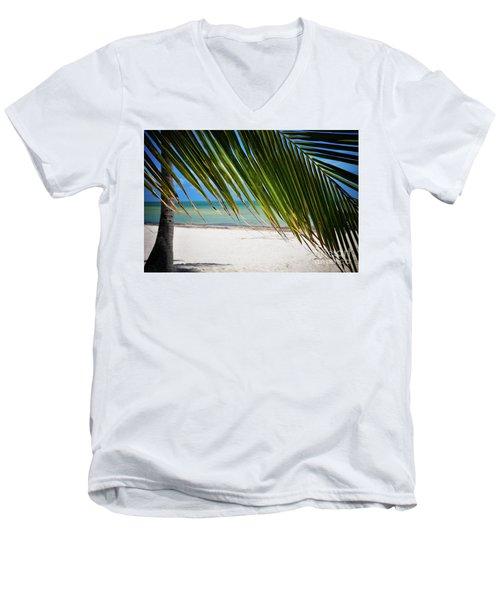 Key West Palm Men's V-Neck T-Shirt