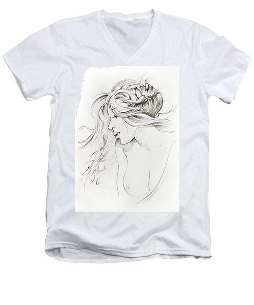 Kiss Of Wind Men's V-Neck T-Shirt by Anna Ewa Miarczynska