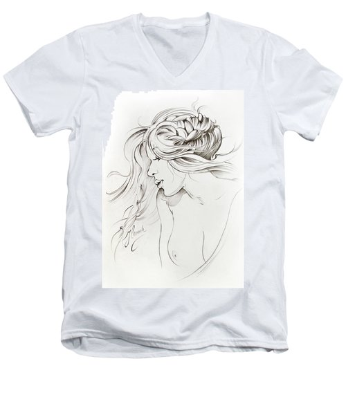 Kiss Of Wind Men's V-Neck T-Shirt