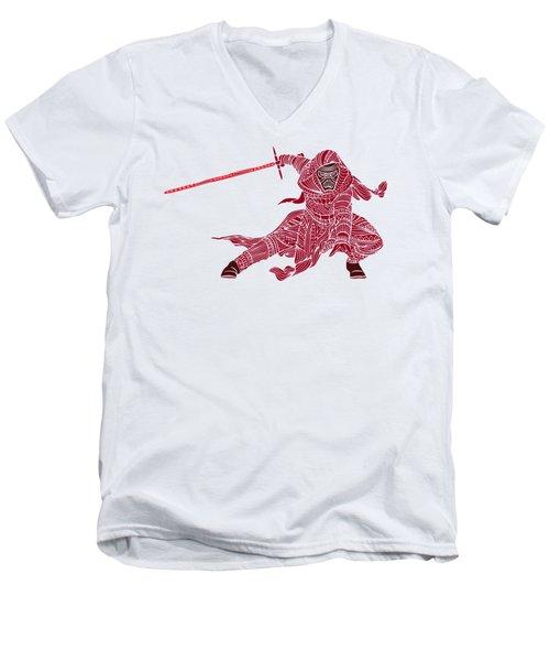 Kylo Ren - Star Wars Art - Red Men's V-Neck T-Shirt