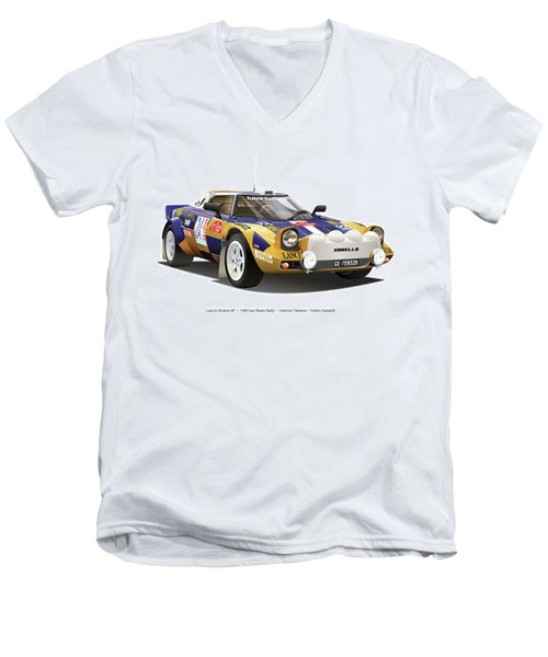Lancia Stratos Hf Men's V-Neck T-Shirt