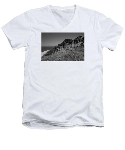 Lands End In San Francisco Men's V-Neck T-Shirt