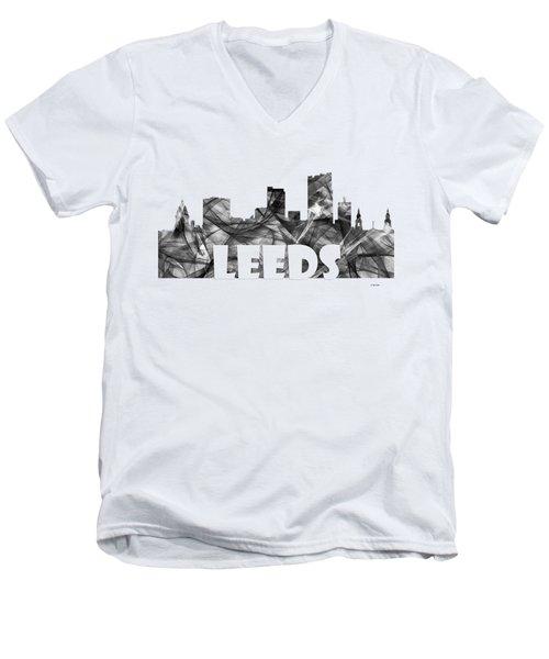 Leeds England Skyline Men's V-Neck T-Shirt