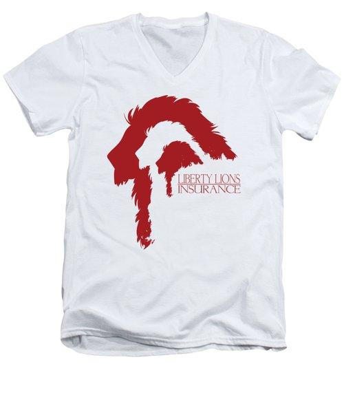 Liberty Lions Logo Men's V-Neck T-Shirt by Ryan Anderson