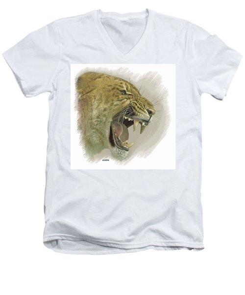 Liger Men's V-Neck T-Shirt